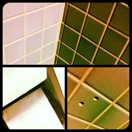 Bored Bathroom Tryptic